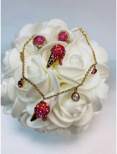 Image for Swarovski Ice Cream Earring & Bracelet Set