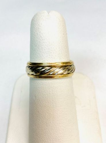 14kt Yellow & White Gold Estate Band