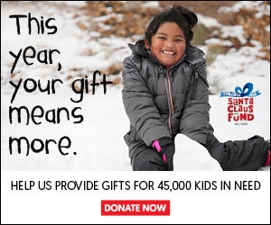 This year, your gift means more. Help us provide gift for 45,000 kind in need. Donate to the Santa Claus Fund Now!